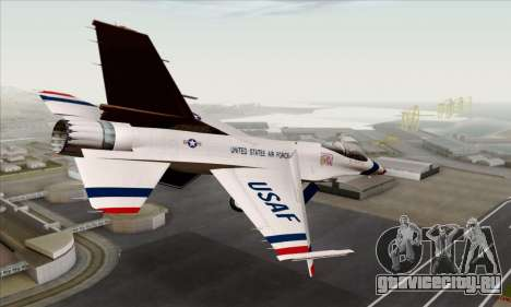 F-16C USAF Thunderbirds для GTA San Andreas вид слева
