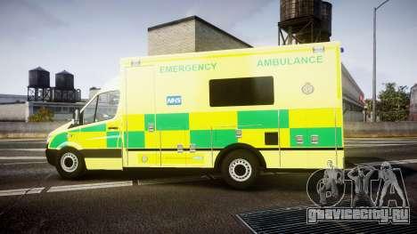 Mercedes-Benz Sprinter Ambulance [ELS] для GTA 4 вид слева