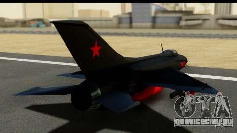 MIG-21F Fishbed B URSS Custom для GTA San Andreas вид слева