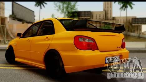 Subaru Impreza WRX STI 2005 Romanian Edition для GTA San Andreas вид слева