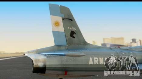 Aermacchi MB-326 ARM для GTA San Andreas вид справа