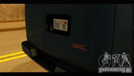 GMC Savana 3500 Passenger 2013 для GTA San Andreas вид сзади