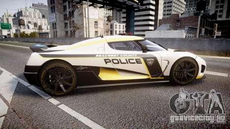 Koenigsegg Agera 2013 Police [EPM] v1.1 PJ1 для GTA 4 вид слева