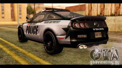 NFS Rivals Ford Shelby GT500 Police для GTA San Andreas вид слева