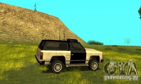 Beta Police Ranger для GTA San Andreas вид изнутри