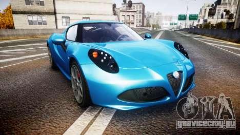 Alfa Romeo 4C 2014 HD Textures для GTA 4