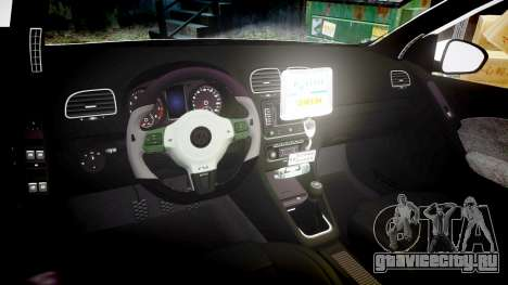 Volkswagen Golf Mk6 Dutch Police [ELS] для GTA 4 вид изнутри