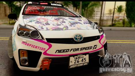 Toyota Prius Hybrid Eri Ayase Love Live Itasha для GTA San Andreas вид сзади слева