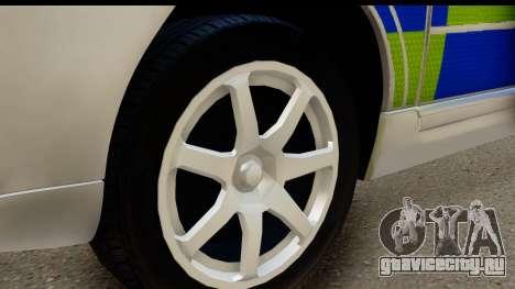 Volvo V70 Kent Police для GTA San Andreas вид сзади