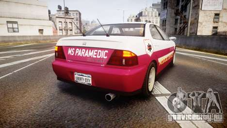 Dinka Chavos Paramedic для GTA 4 вид сзади слева