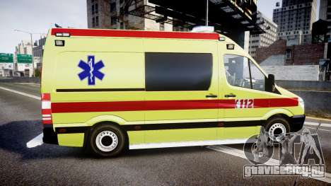 Mercedes-Benz Sprinter 311 cdi Belgian Ambulance для GTA 4 вид слева
