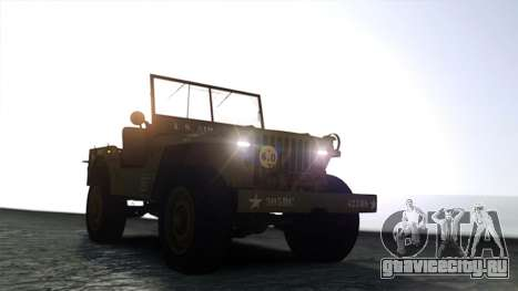 Ford Willys 1942 для GTA 4 вид справа