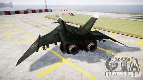МиГ-31 Огненный лис MEC PJ для GTA 4 вид сзади слева