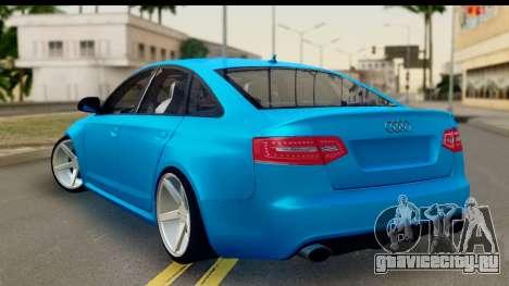Audi RS6 Vossen для GTA San Andreas вид слева