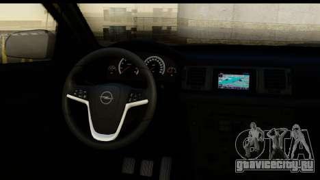 Opel Vectra для GTA San Andreas вид изнутри