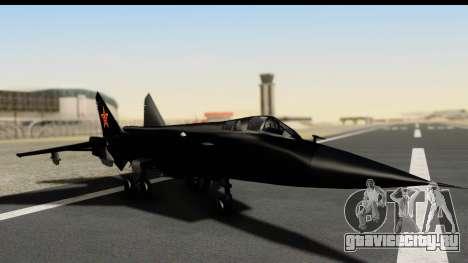 Mikoyan-Gurevich MIG-31 China Air Force для GTA San Andreas