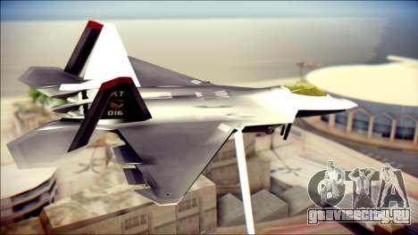 F-22 Raptor Razgriz для GTA San Andreas вид слева