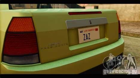 GTA 4 Presidente для GTA San Andreas вид сзади