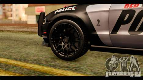 NFS Rivals Ford Shelby GT500 Police для GTA San Andreas вид сзади слева