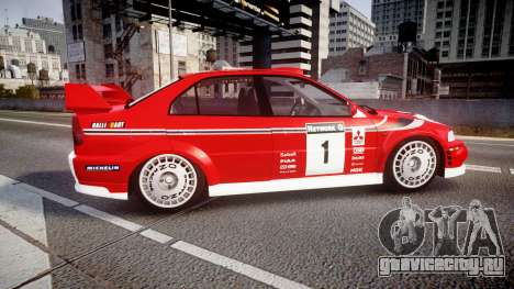 Mitsubishi Lancer Evolution VI 2000 Rally для GTA 4 вид слева
