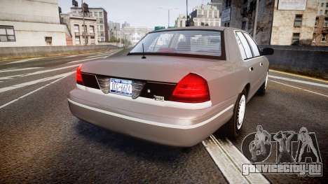 Ford Crown Victoria NYPD Unmarked [ELS] Old для GTA 4 вид сзади слева
