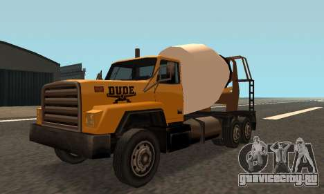 Cement Truck Fixed для GTA San Andreas вид слева