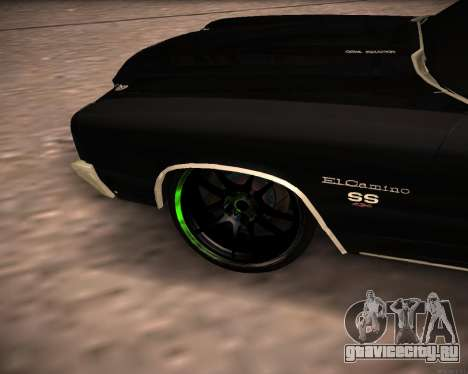Chevrolet El Camino SS Green Hornet для GTA San Andreas вид справа