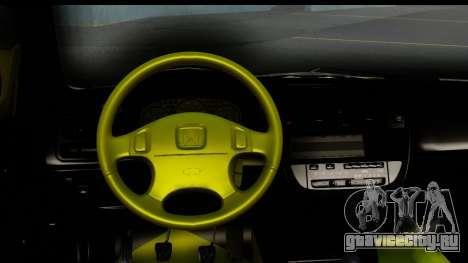 Honda Civic 1.4 Taxi для GTA San Andreas вид изнутри