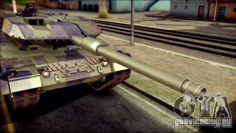 Leopard 2A6 PJ для GTA San Andreas вид сзади