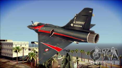 Dassault Mirage 2000-10 Black для GTA San Andreas вид слева