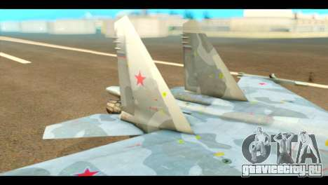 SU-37 Terminator Russian AF Camo для GTA San Andreas вид сзади слева