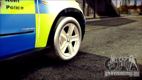 BMW X5 Kent Police RPU для GTA San Andreas вид сзади слева
