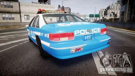 Chevrolet Caprice 1993 LCPD Without Hubcabs ELS для GTA 4 вид сзади слева