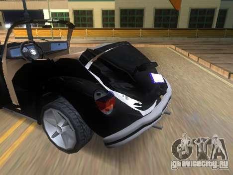 Volkswagen Beetle 1984 для GTA San Andreas вид снизу
