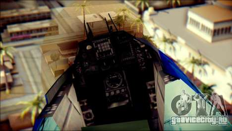 Mitsubishi F-2A JASDF v3.0 для GTA San Andreas вид сзади
