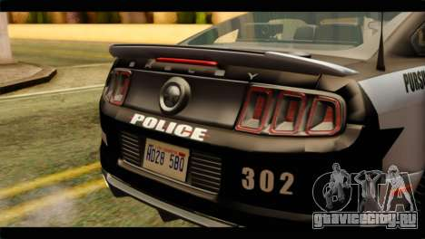 NFS Rivals Ford Shelby GT500 Police для GTA San Andreas вид сзади