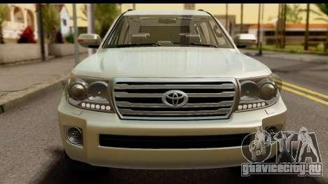 Toyota Land Cruiser 200 2013 для GTA San Andreas вид сзади слева