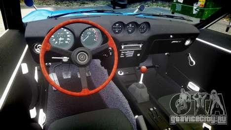 Nissan Fairlady Z (S30) Devil Z для GTA 4 вид изнутри