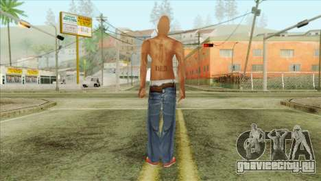 Tupac Shakur Skin v3 для GTA San Andreas второй скриншот