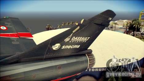 Dassault Mirage 2000-10 Black для GTA San Andreas вид сзади слева