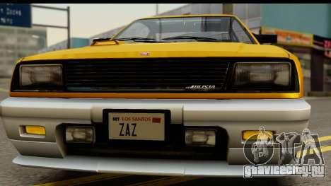 GTA 4 Blista Compact для GTA San Andreas вид изнутри
