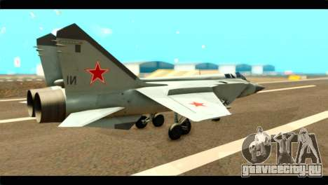MIG-31 Soviet для GTA San Andreas вид слева
