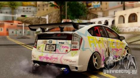 Toyota Prius Hybrid Eri Ayase Love Live Itasha для GTA San Andreas вид слева