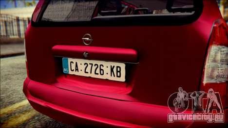 Opel Astra G Caravan для GTA San Andreas вид сзади