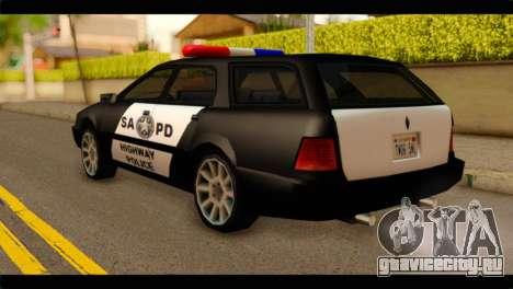 Stratum Police Highway v1.0 для GTA San Andreas вид слева
