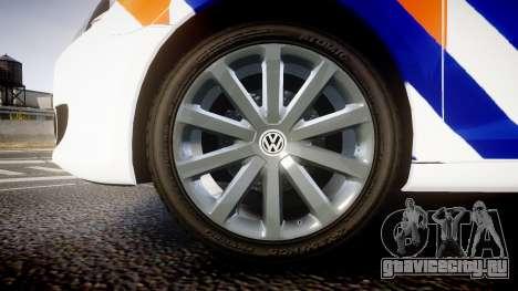 Volkswagen Golf Mk6 Dutch Police [ELS] для GTA 4 вид сзади