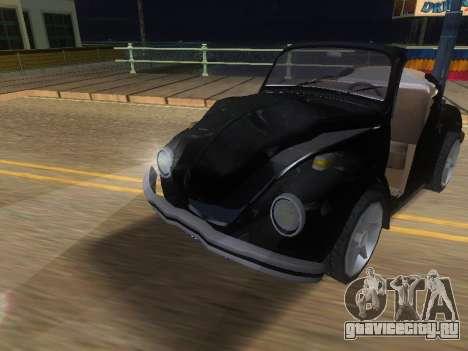 Volkswagen Beetle 1984 для GTA San Andreas вид сверху