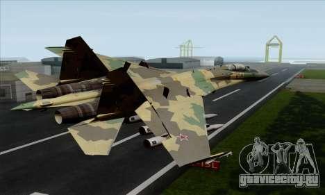 SU-35 Flanker-E ACAH для GTA San Andreas вид слева