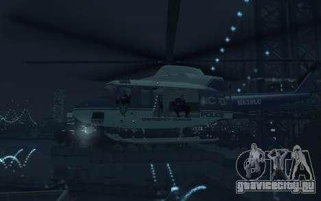 GTA III Police Valkyrie HD для GTA 4 вид сзади