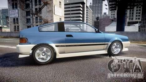 Dinka Blista Compact R для GTA 4 вид слева